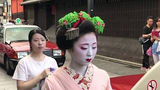 Maiko and her apprentice in Gion Kyoto Japan