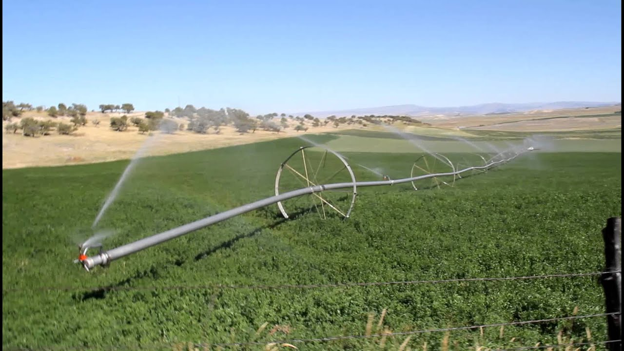 Pivot Irrigation Creates Small Rainbow Youtube