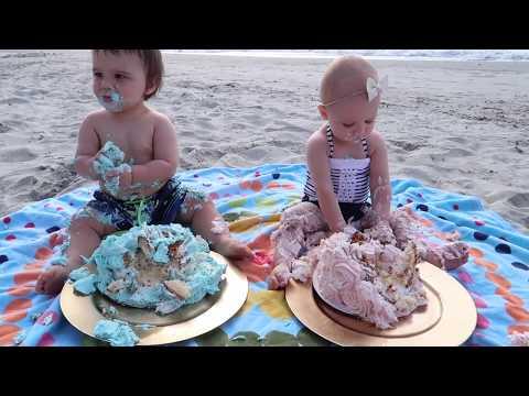 Epic Twins Cake Smash On The Beach!