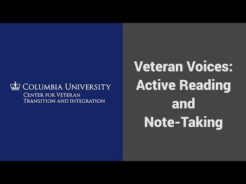 MOOC USSV101x | Veteran Voices: Active Reading and Note-Taking | Full