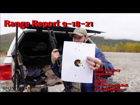 Range Report 9-18-21