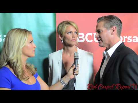 Tricia Helfer & Brian Van Holt at NBCUniversal's 2014 Press Tour TCA14 @TruTriciaHelfer