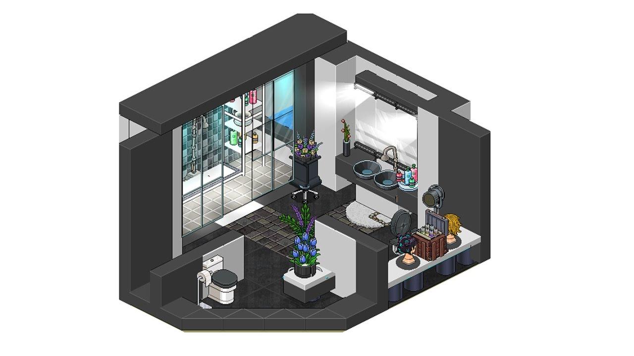 Habbo ba o moderno 123vid for Casa moderna habbo