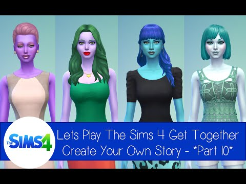 *Part 10* Lets Play The Sims 4 Get Together - Create Your Own Story - Date, Dancing and Baby