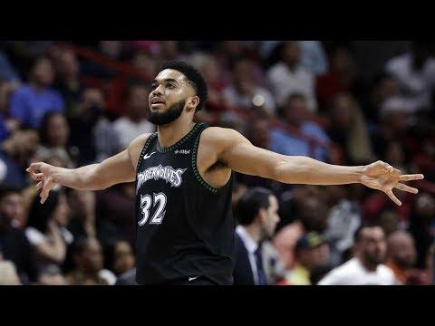 Karl Anthony Towns 34 Pts 18 Rebs 6 Blocks vs Heat! 2018-19 NBA Season