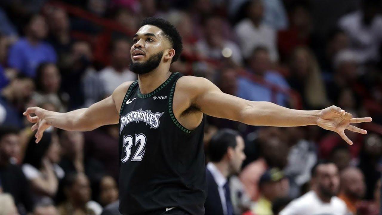 towns karl anthony timberwolves nba basketball minnesota heat trade rumors game scoring scores miami reacts center capsules points vs dec