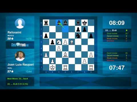 Chess Game Analysis: Juan Luis Ñaupari - Rafosaint : 1-0 (By ChessFriends.com)