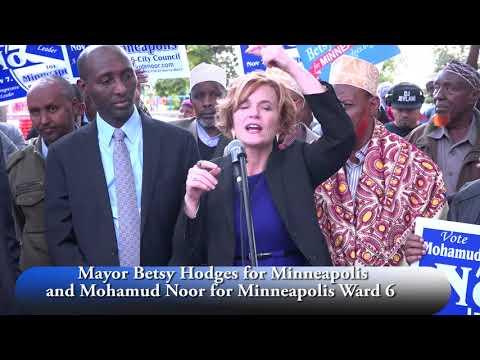 Mayor Betsy Hodges oo Taageero Buuxda Siisey Musharax Mohamed Nuur