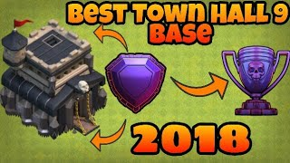 Town Hall 9 Best TROPHY Pushing/HYBRID Base (TH9 TROLL MASTER BASE) 2018