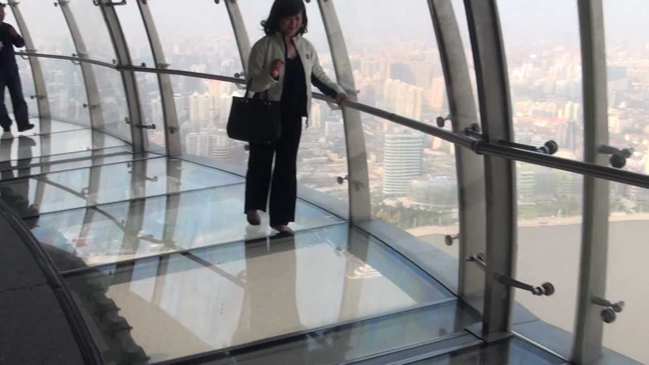 Glass Bottomed Skywalk Oriental Pearl Tower Shanghai