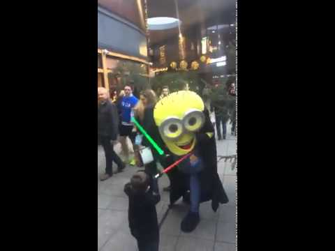 Jedi Master Minion Lightsaber Battle With Sith Lord In Cheltenham