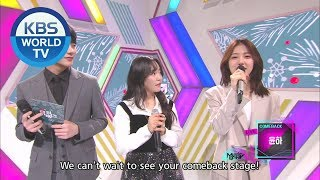 YOUNHA introduces WINTER FLOWER and Dark Cloud [Music Bank /...