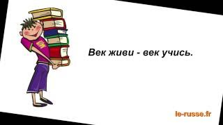 Пословицы об учении   Русский язык с удовольствием РКИ   Включите субтитры