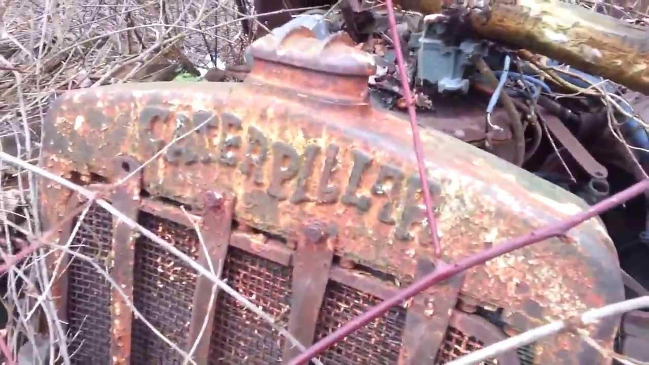 Bulldozer Tractor Body Parts : Antique caterpillar ten dozer crawler tractor youtube
