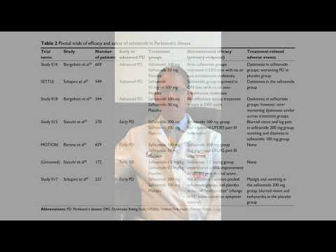Safinamide In The Management Of Patients With PD - Video Abstract [ID 139545]