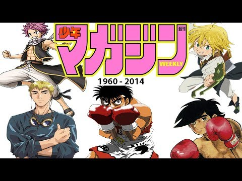 Evolution of Weekly Shōnen Magazine (1960-2014) by Anime Openings