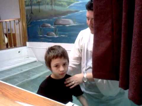 the kids getting baptized