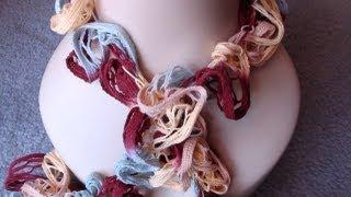 Loopy Crochet Ruffle Scarf by Crochet Hooks You