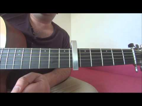 Glory box - Portishead acoustic guitar tutorial Bass, chords and violins