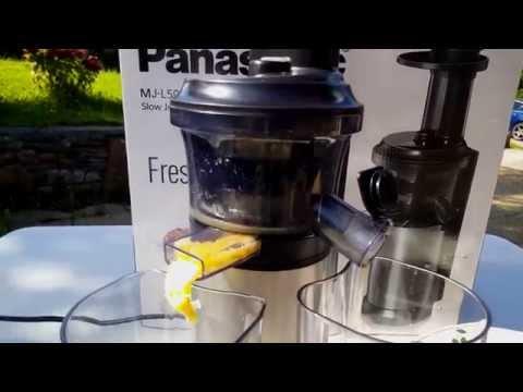 Panasonic Slow Juicer Demo : Panasonic Juicer - MJ-DJ01 Doovi