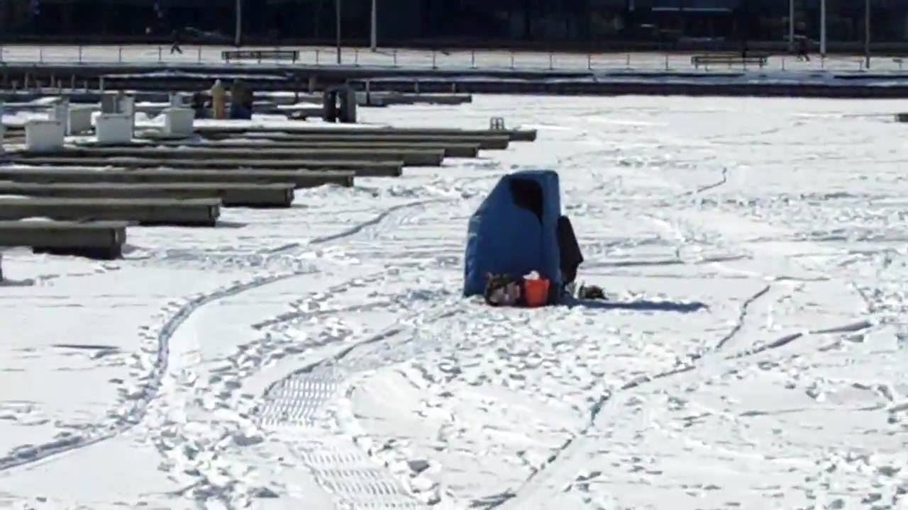 Chicago ice fishing report youtube for Michigan out of state fishing license