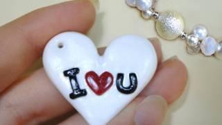 البرنامج التعليمي 33 • cuore I ♥ u - كيفية إنشاء القلب في البوليمر الطين + ringraziamento على فالنتينا^^