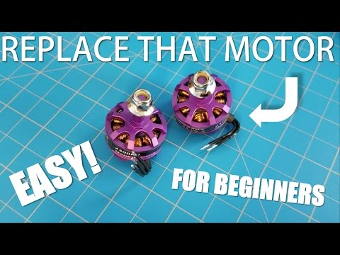 Replacing a Race Drone Motor! - Eachine Wizard X220 | Fix & InFlight Test | The Fly Guy