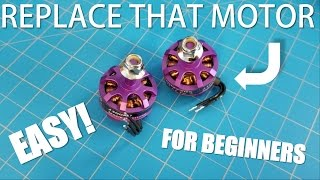 Replacing a Race Drone Motor   Eachine Wizard X220  Fix and  nFlight Test  The Fly Guy