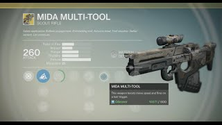 Destiny Raid Loot - Mida Multi Tool (exotic Scout Rifle) + Gameplay