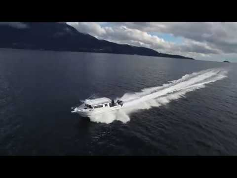 Yamaha 425 XTO Offshore on Kingfisher 3425 Seatrial