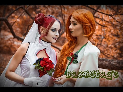 [Backstage: Harley Quinn and Poison Ivy wedding] cosplay photoshoot