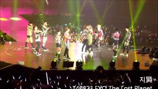 140823 EXO The Lost Planet in Sg Talk + Dance battle + XOXO