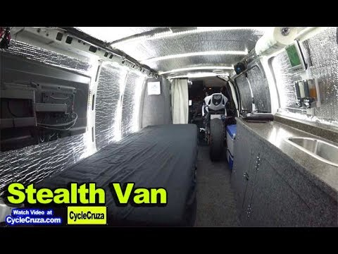 Ultimate DIY Budget Stealth Camper Van Conversion with Motorcycle Inside