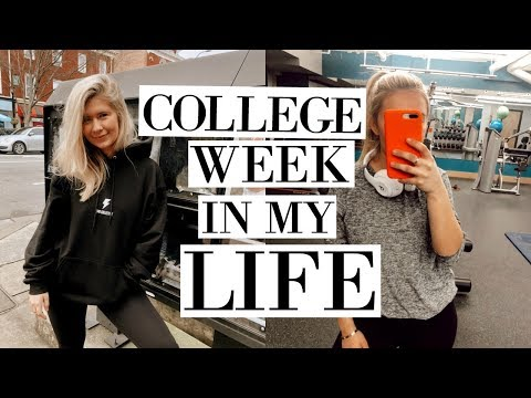 college week in my life: cooking, fitness, homework, friends