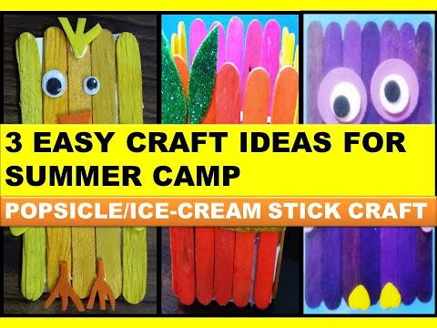Easy craft ideas for Summer Holidays/How to do ice cream stick craft/Easy craft for Holidays