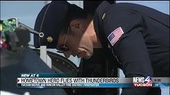 Tucson native named Hometown Hero, flies with Thunderbirds