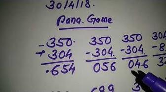 Kalyan today pana trick FREE GAME 30/4/18