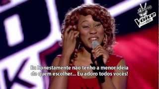 "The Voice UK - Joelle Moses canta ""Rolling In The Deep"" de Adele (Legendado)"
