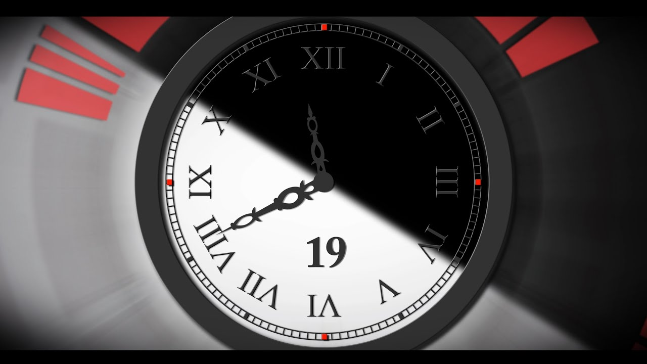 Countdown Timer 1 min ( v 392 ) Clock B&W with Sound ...