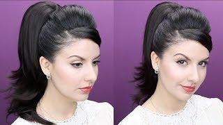 Peinado Colita de Caballo Retro Pinup Recogido de los Años 1960   Nena Moreno