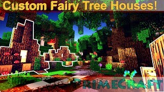 Minecraft Lets Play: Custom tree houses for the Fairies! PrimeCraft S2 E24 YouTube