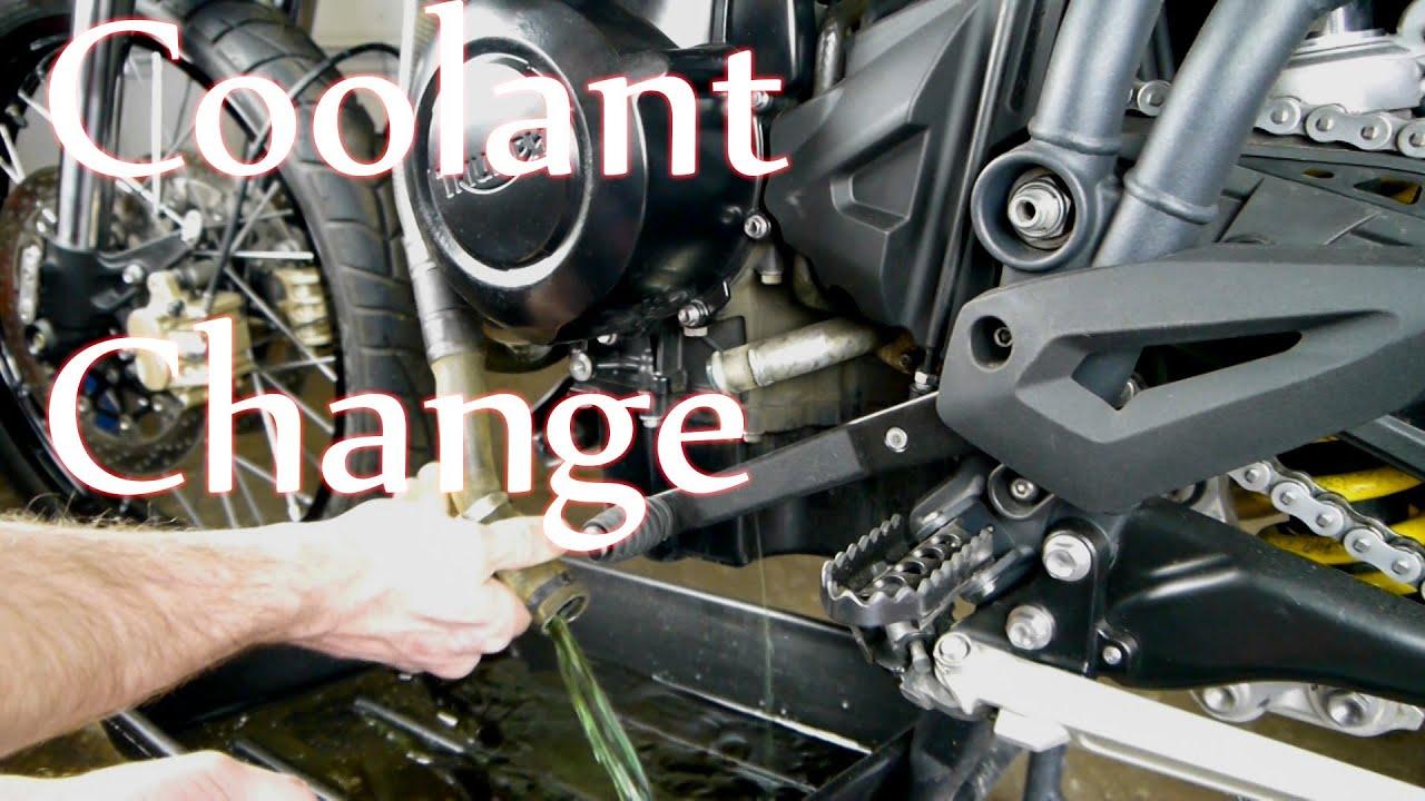 Tiger 800 Coolant Change Youtube