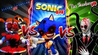 minecraft slenderman vs sonicexe vs baby fnaf sister location can slenderman defeat the others??
