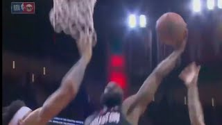 James Harden POSTERIZES Javale McGee