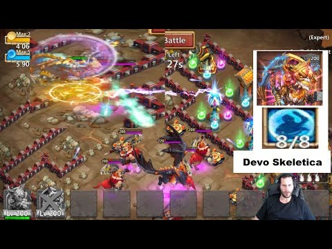 Skeletica OWNING Dungeons Game Play Big Boy Dragons Castle Clash