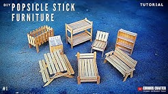 Popsicle Stick Furniture - [How to DIY]