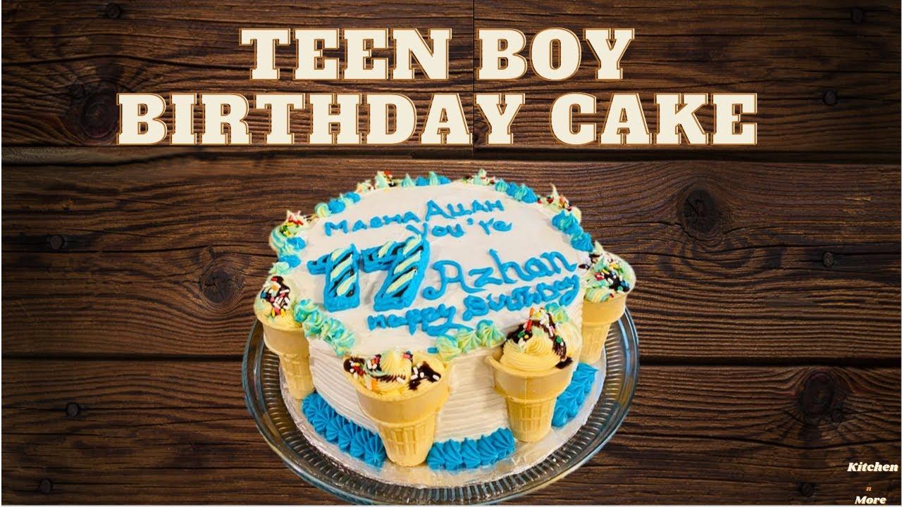 Teen Boy Birthday Cake Youtube