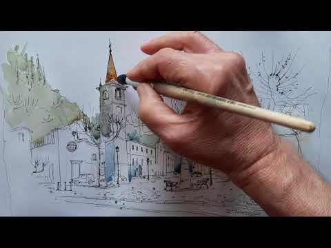 Вопрос: Как нарисовать городской пейзаж?