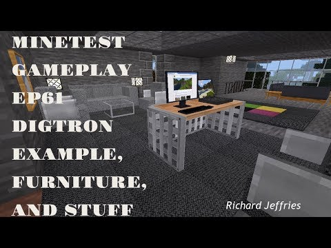 Minetest Gameplay EP61 Digtron Question, Furniture, and Stuff