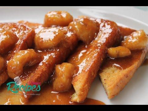 Banana Foster French Toast Recipe - I Heart Recipes